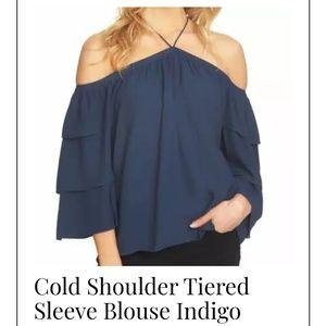 Cold shouldered blouse
